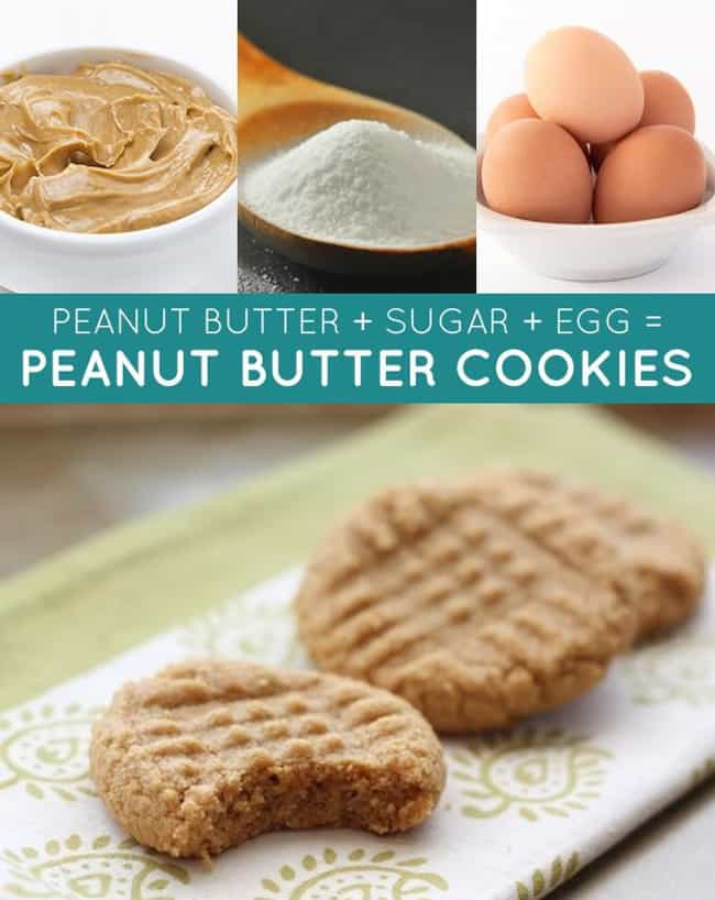 Old Fashioned Peanut Butter Co... is listed (or ranked) 3 on the list 33 Easy and Delicious Three-Ingredient Recipes