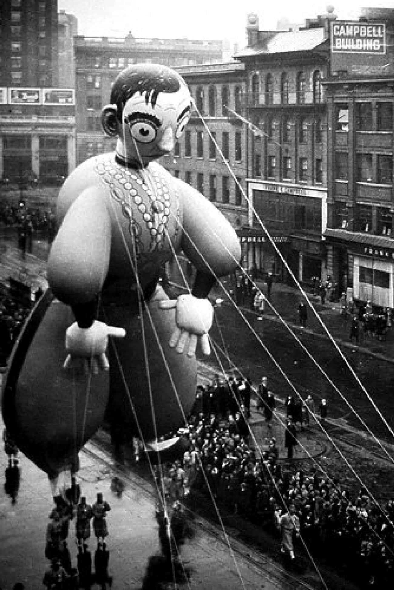 The Catatonic Eddie Cantor is listed (or ranked) 4 on the list The Creepiest Macy's Thanksgiving Day Parade Balloons