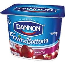 Cherry Fruit on the Bottom on Random Best Dannon Yogurt Flavors