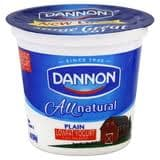 All Natural Plain on Random Best Dannon Yogurt Flavors