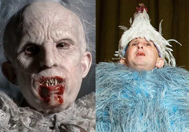 Meep's Actor On Freak Show... is listed (or ranked) 3 on the list 31 Facts You Didn't Know About American Horror Story