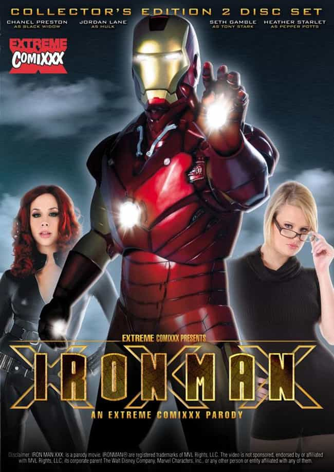 Iron Man XXX: An Extreme Comix... is listed (or ranked) 2 on the list The Best Superhero Porn Parodies