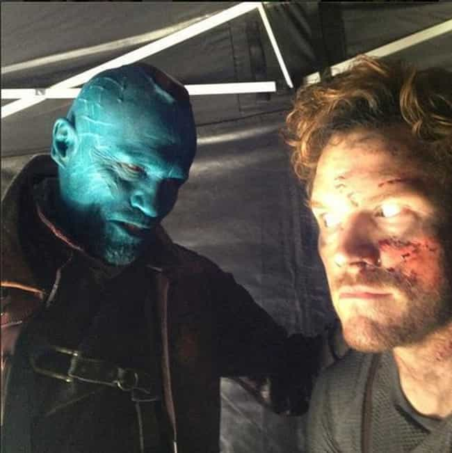 They've both looked better... is listed (or ranked) 4 on the list The Best BTS Photos from Guardians of the Galaxy
