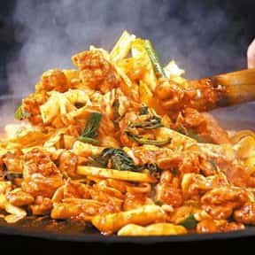 Dakgalbi is listed (or ranked) 12 on the list The Best Korean Food