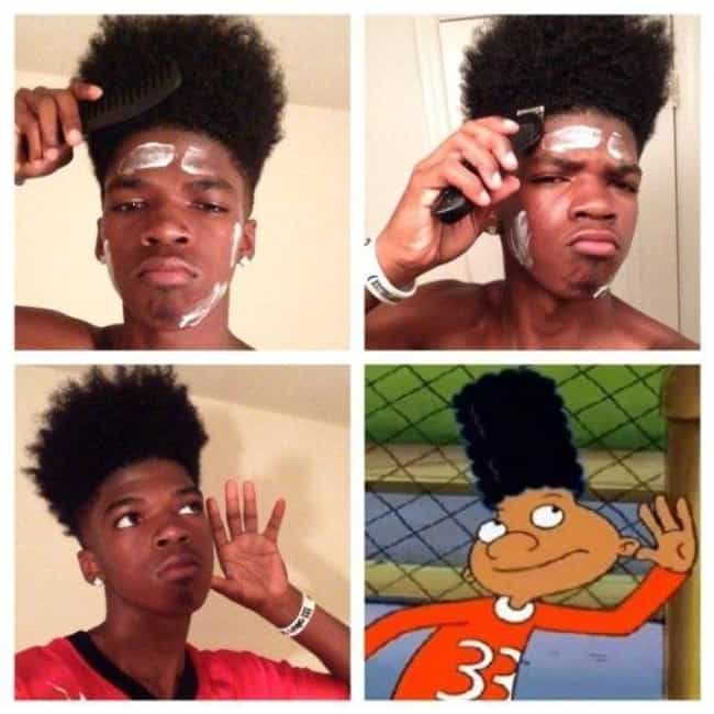 Gerald from Hey! Arnold is listed (or ranked) 4 on the list 60+ Unbelievable #MakeupTransformations