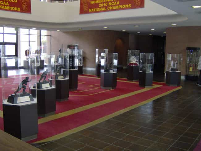 The Heisman trophy. Sing... is listed (or ranked) 7 on the list 24 Reasons USC Is Better Than UCLA