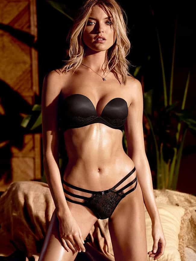 Martha Hunt in Black Strappy U... is listed (or ranked) 1 on the list Hottest Martha Hunt Photos