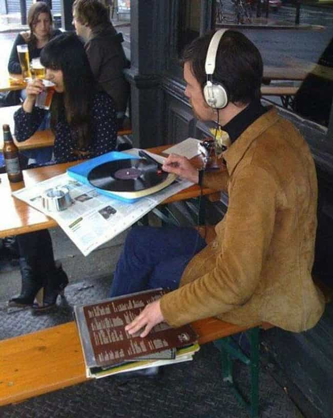 This Guy Who Hates MP3s ... is listed (or ranked) 1 on the list 14 Hipsters Who Are Trying Way Too Hard