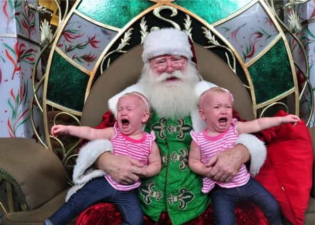 Double Trouble is listed (or ranked) 4 on the list 58 Kids Who Are Terrified of Santa Claus