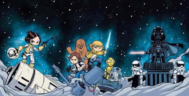 Star Wars #1 Skottie Young Int... is listed (or ranked) 4 on the list The Coolest Comic Book Covers of 2015