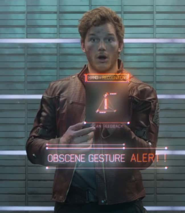 Star-Lord's Flipping The Bird Gesture