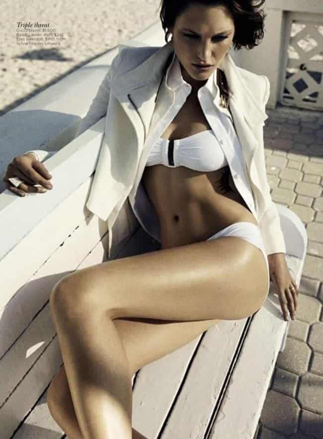 Catherine McNeil in a White Sw... is listed (or ranked) 1 on the list Hottest Catherine McNeil Photos