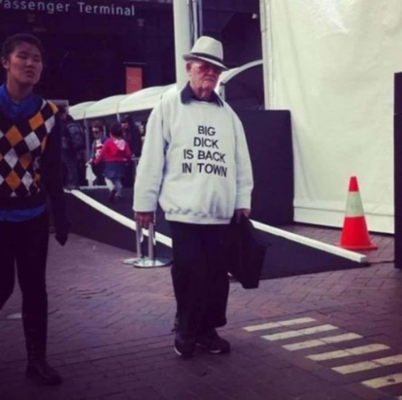 This Dude Who's Starring i is listed (or ranked) 4 on the list 15 Amazing Old People Wearing Funny T-Shirts