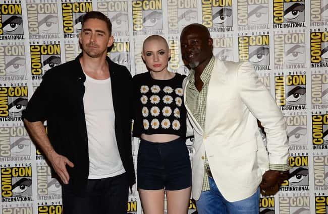 Djimon Hounsou and Lee Pace with Karen Gillan