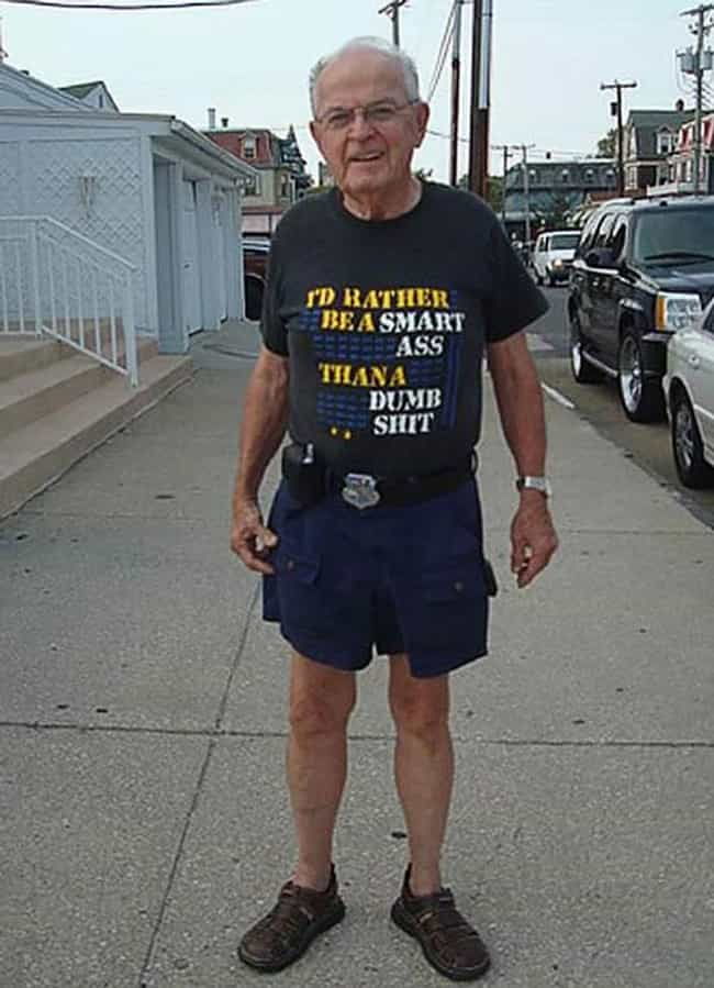 This Man Who Also Has a Smart ... is listed (or ranked) 3 on the list 39 Amazing Old People Wearing Funny T-Shirts