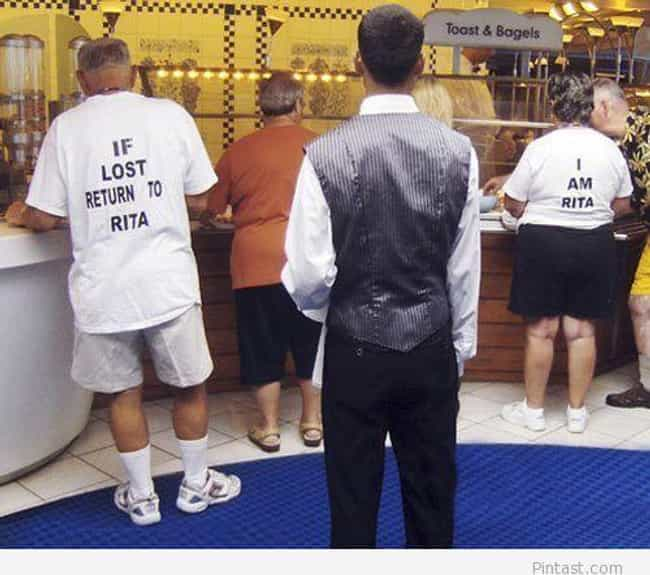 These Two Who Have Separation ... is listed (or ranked) 2 on the list 39 Amazing Old People Wearing Funny T-Shirts