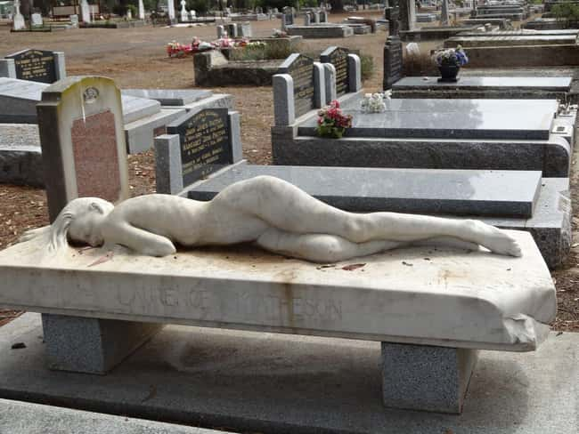 Eternal Slumber is listed (or ranked) 5 on the list Weirdly Fascinating And Bizarre Gravestones From Around The World