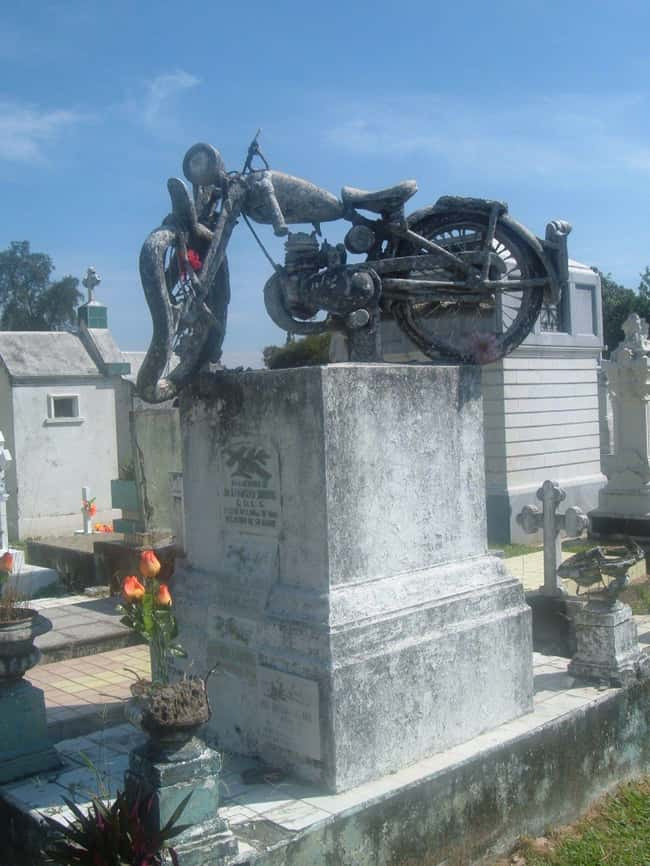 A Rider Forever is listed (or ranked) 15 on the list Weirdly Fascinating And Bizarre Gravestones From Around The World