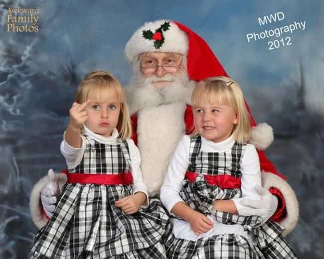 guess we know whos on the naughty list - Awkward Family Christmas Photos
