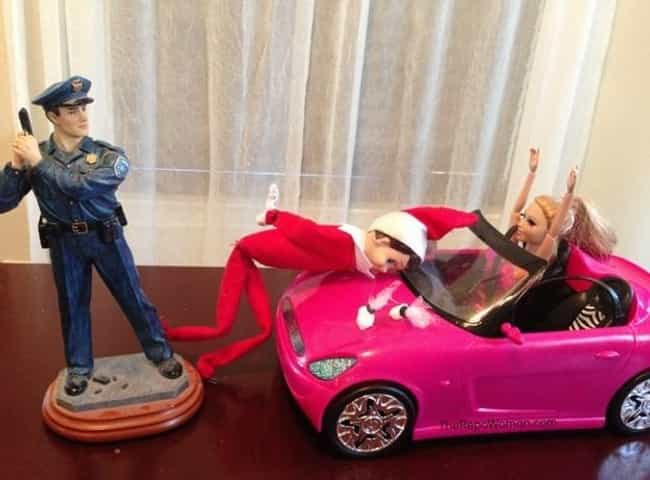 Barbie's Crying Couldn't... is listed (or ranked) 4 on the list 18 Funny Photos of Elf on the Shelf Gone Bad