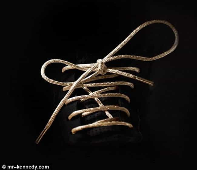 24 Karat Gold Shoelaces ... is listed (or ranked) 2 on the list The Most Expensive Christmas Gifts Money Can Buy