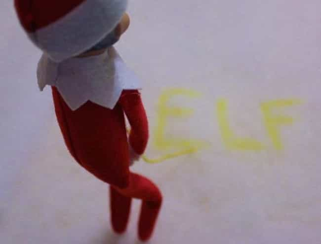 Kids Love His Dead-On Im... is listed (or ranked) 4 on the list 20 Funny Photos of Elf on the Shelf Gone Bad
