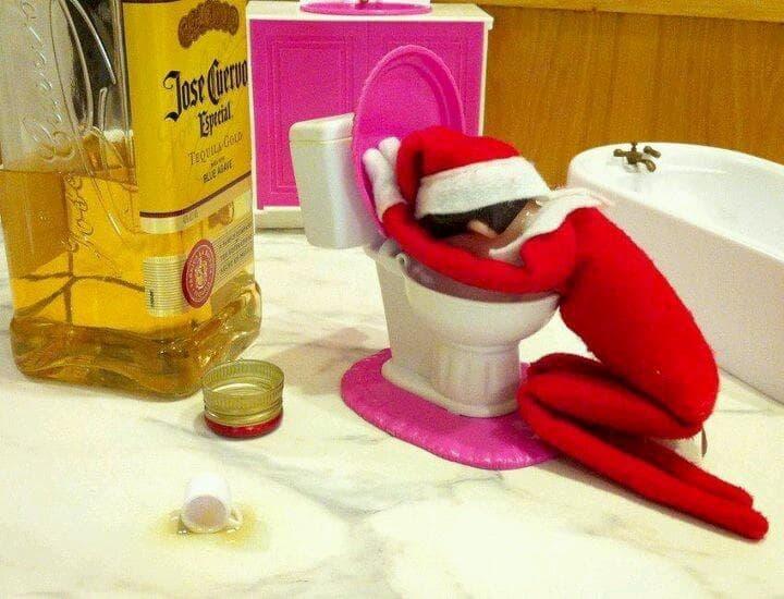 Random Funny Photos of Elf on the Shelf Gone Bad