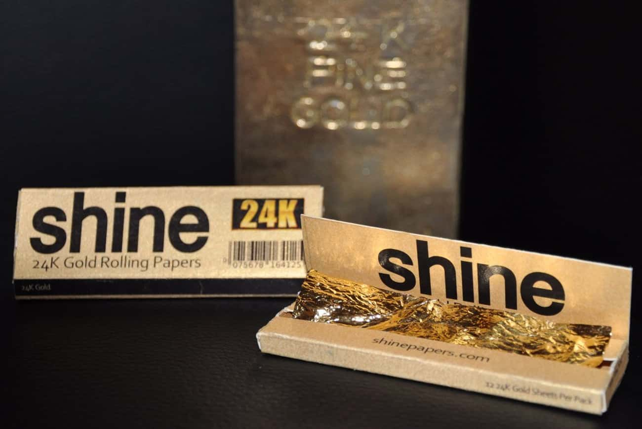 24K Gold Rolling Papers is listed (or ranked) 4 on the list 24 Everyday Things You Can Buy Made Of Real Gold