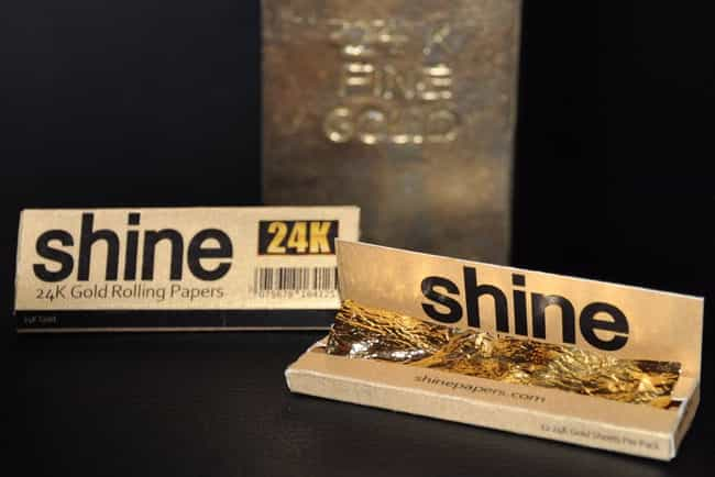 24K Gold Rolling Papers ... is listed (or ranked) 4 on the list 24 Everyday Things You Can Buy Made Of Real Gold