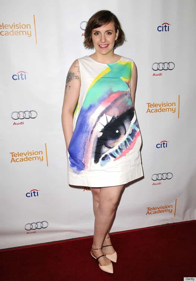 This Dress That Is Looking Rig... is listed (or ranked) 1 on the list Lena Dunham's 35 Most Courageous Fashion Efforts, Ranked