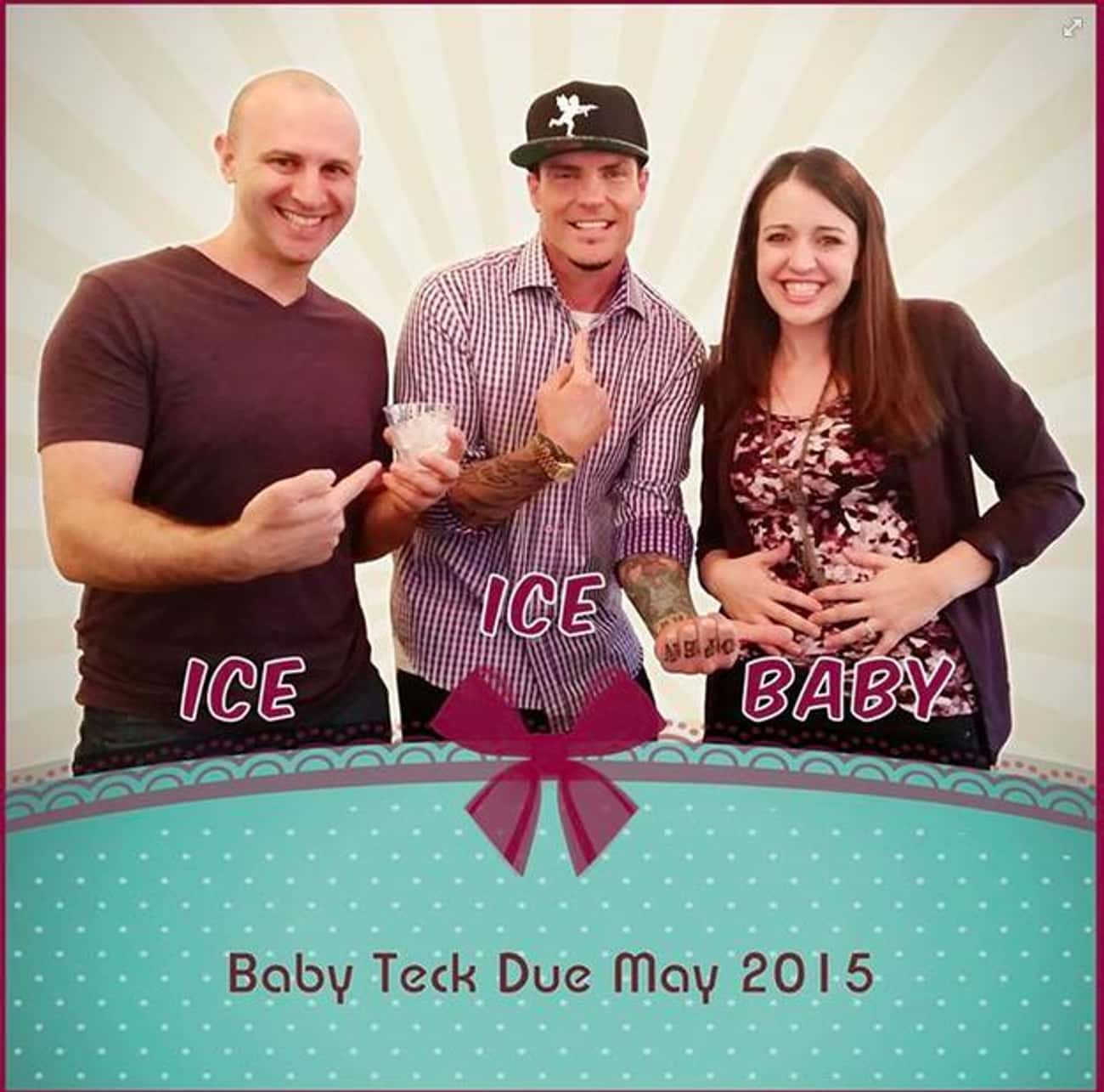 Stop. Collaborate And Pose. is listed (or ranked) 4 on the list 14 Creative Pregnancy Announcements