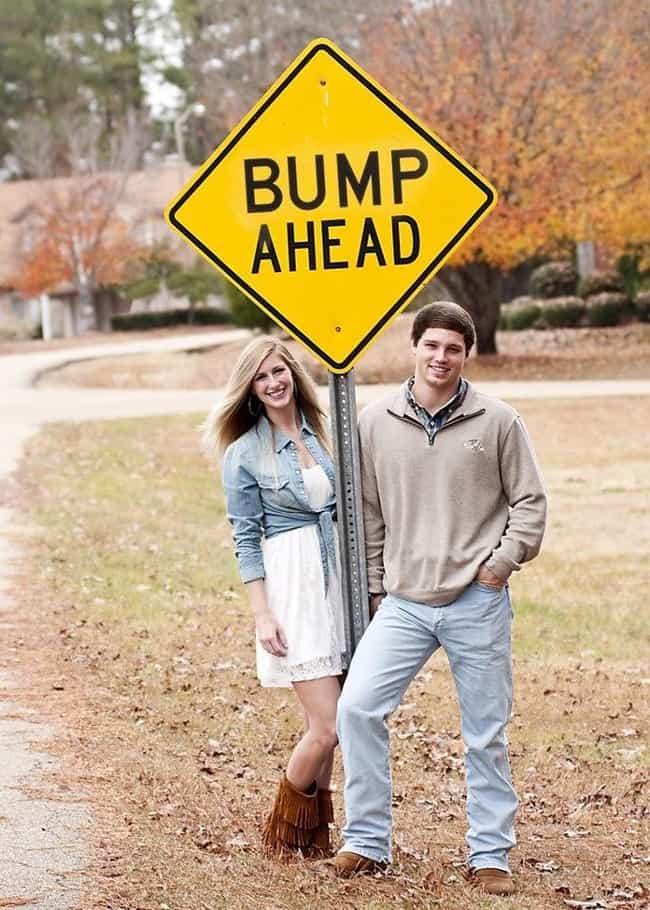 Stop Traffic is listed (or ranked) 7 on the list 14 Creative Pregnancy Announcements