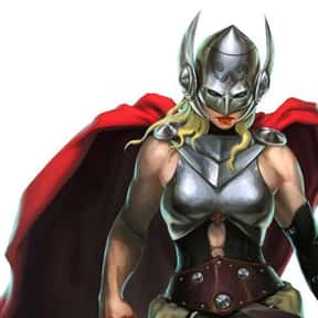 (Lady) Thor is listed (or ranked) 5 on the list Characters Who Are Most Worthy Of Lifting Mjolnir