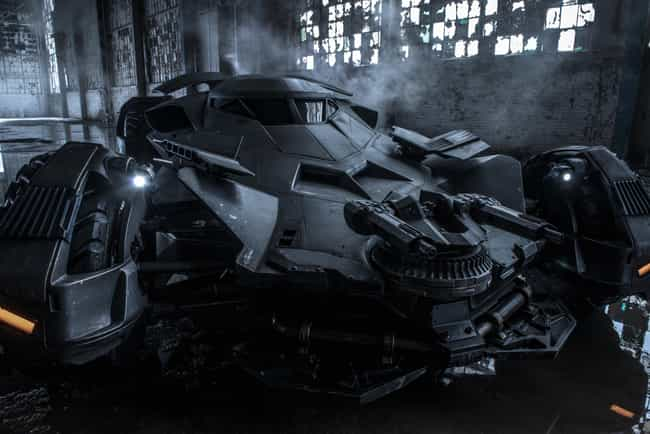 Batman v Superman: Dawn ... is listed (or ranked) 5 on the list The Best Batmobiles of All Time