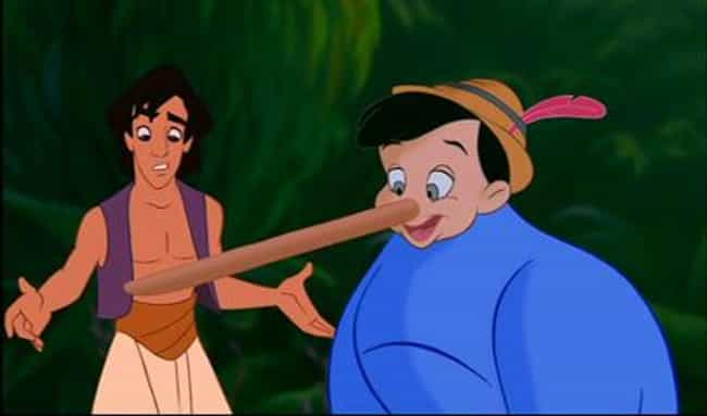 The Genie Morphs Into Pinocchi... is listed (or ranked) 7 on the list 47 Easter Eggs from Every Classic Disney Movie