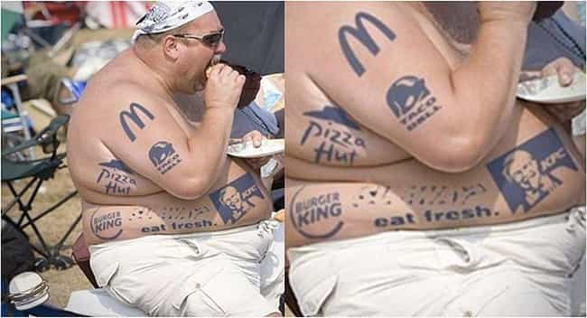 Owning It=Win. Epic Win. is listed (or ranked) 3 on the list 30 Unfortunate Corporate Logo Tattoos