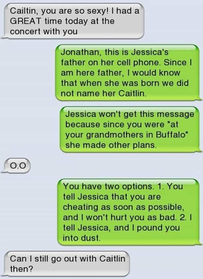 The Deal-Making Dad Dump... is listed (or ranked) 4 on the list 17 Breakup Texts That Are So Awful They're Amazing