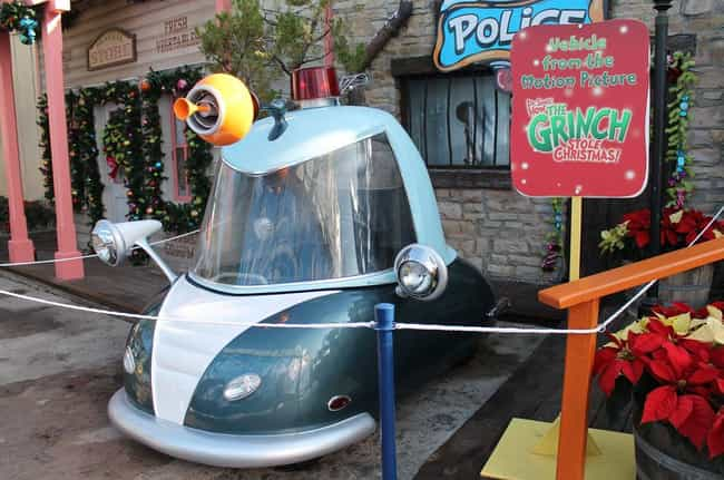 The Grinch Cars on Displ... is listed (or ranked) 4 on the list 31 Universal Studios Secrets That May Blow You Away