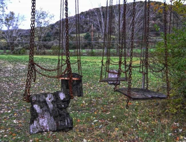 Lake Shawnee Amusement Park: R... is listed (or ranked) 1 on the list The Creepiest Abandoned Roadside Attractions Ever