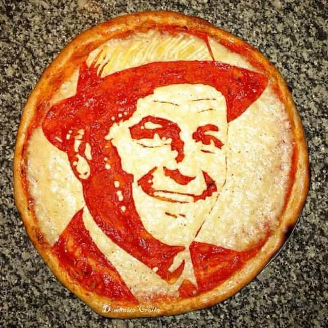 Frank Sinatra Pizza is listed (or ranked) 3 on the list The Greatest Pizza Art That Should Be in Museums