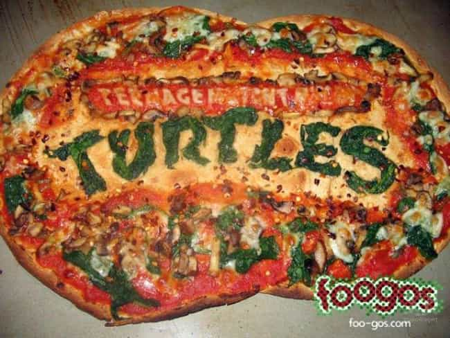 TMNT Pizza is listed (or ranked) 4 on the list The Greatest Pizza Art That Should Be in Museums
