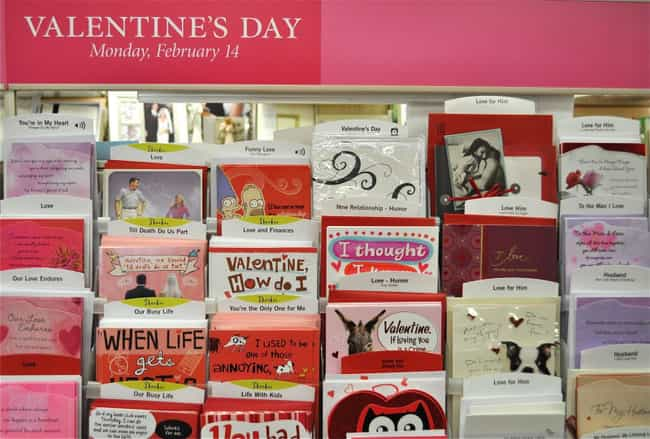 Valentine's Day Is a Hallm... is listed (or ranked) 2 on the list The Most Widely Believed Valentine's Day Myths & Legends
