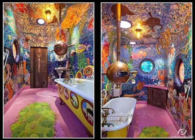 Mushrooms! The Bathroom ... is listed (or ranked) 6 on the list 14 Bizarre Toilets From Around the World