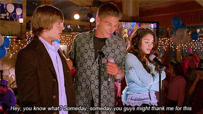 Someday You Might Thank ... is listed (or ranked) 1 on the list The Best 'High School Musical' Quotes