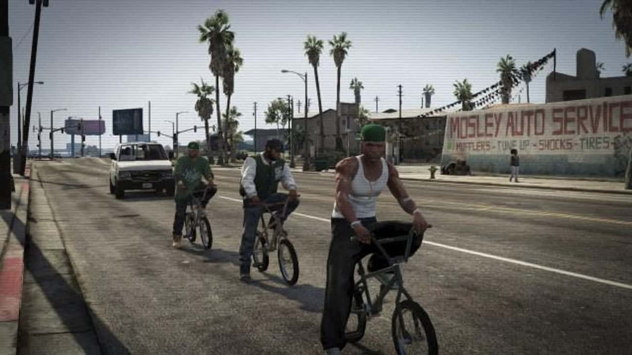 CJ, Sweet, and Big Smoke Make  is listed (or ranked) 3 on the list 20 Hidden Easter Eggs in GTA Games