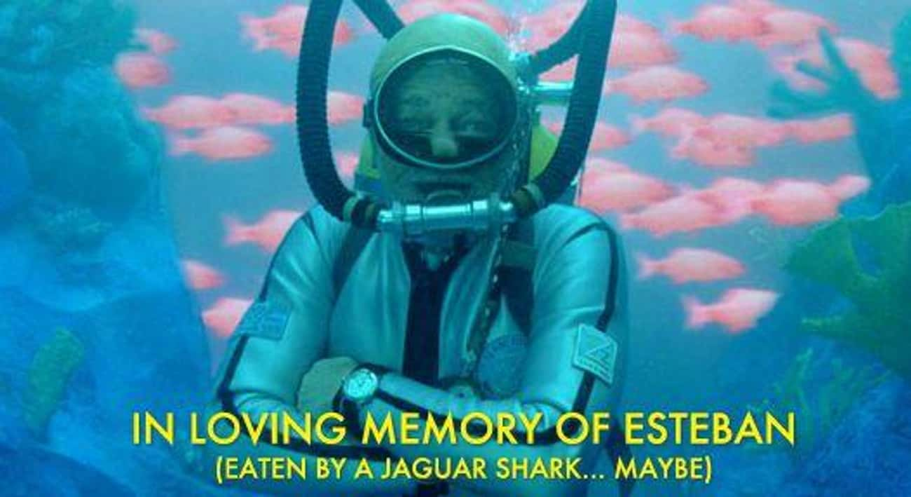 Esteban Was Eaten! is listed (or ranked) 1 on the list The Best The Life Aquatic with Steve Zissou Quotes
