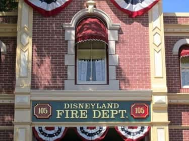 The Window Above The Fire Station On Disnleyland's Main Street Looks Out From Walt Disney's Private Apartment