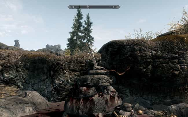 The Sword in the Stone Is in R... is listed (or ranked) 3 on the list 20 Hidden Easter Eggs in Skyrim