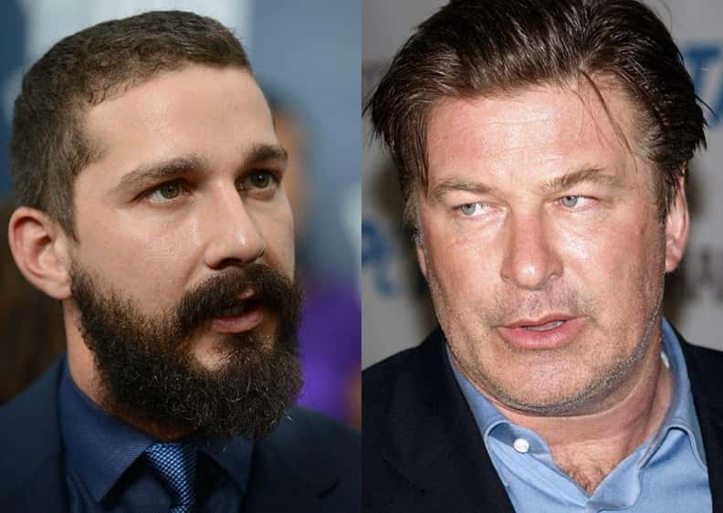 Alec Baldwin and Shia LaBeouf is listed (or ranked) 6 on the list Co-Stars Who Totally Hated Each Other