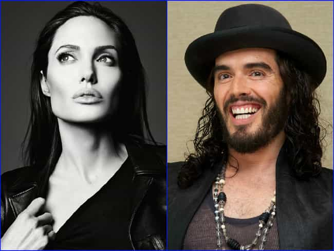 Angelina Jolie & Russell Brand... is listed (or ranked) 4 on the list Famous People Born the Exact Same Day